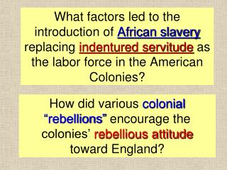 HOW SLAVERY CAME TO THE U.S.