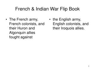 French & Indian War Flip Book