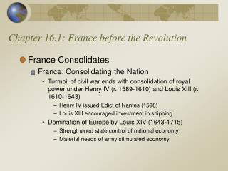 Chapter 16.1: France before the Revolution