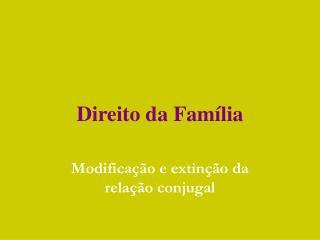 Direito da Fam�lia