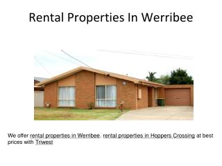 Rental properties in Hoppers Crossing