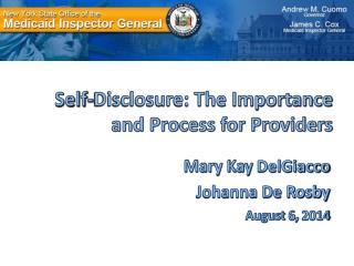 Self-Disclosure: The Importance and Process for Providers
