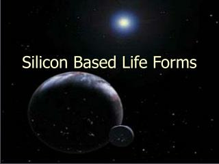 Silicon Based Life Forms