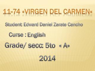 11-74 «virgen del  carme n «