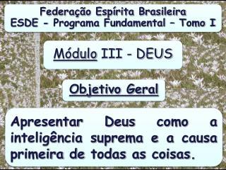 Federa��o Esp�rita Brasileira ESDE - Programa  Fundamental � Tomo  I