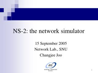 NS-2: the network simulator