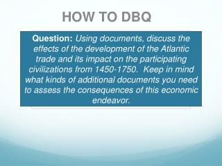 HOW TO DBQ