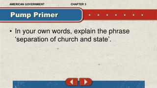 In your own words, explain the phrase 'separation of church and state'.