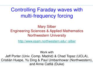 Controlling Faraday waves with multi-frequency forcing