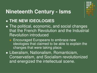 Nineteenth Century - Isms