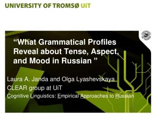 """ What Grammatical Profiles Reveal about Tense, Aspect, and Mood in Russian  """