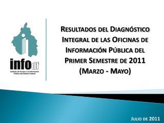 Resultados del Diagnóstico Integral de las Oficinas de Información Pública del