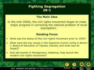 Fighting Segregation 28-1