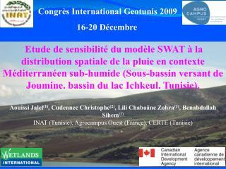 Etude de sensibilit  du mod le SWAT   la distribution spatiale de la pluie en contexte M diterran en sub-humide Sous-bas