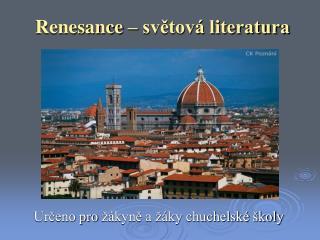 Renesance – světová literatura