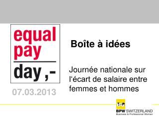 Journée nationale sur l'écart de salaire entre femmes et hommes