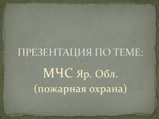 ПРЕЗЕНТАЦИЯ ПО ТЕМЕ: