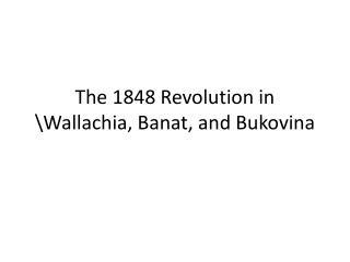 The 1848 Revolution in \Wallachia, Banat, and Bukovina