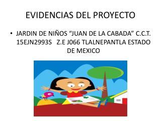 EVIDENCIAS DEL PROYECTO