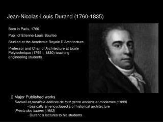 Jean-Nicolas-Louis Durand (1760-1835)