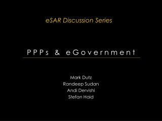 ESAR Discussion Series