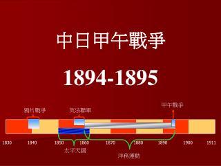 中日甲午戰爭 1894-1895