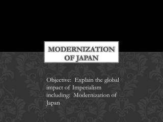 Modernization of Japan