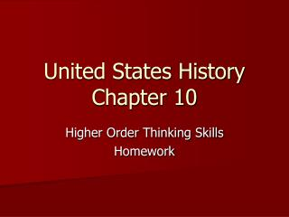 United States History Chapter 10