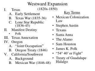 Westward Expansion (1820s-1850)