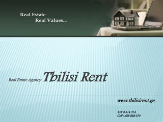 Real Estate Agency  Tbilisi Rent