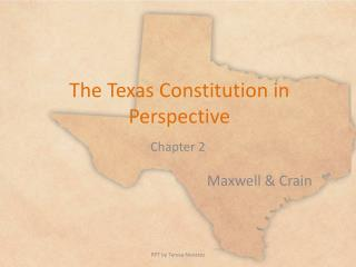 The Texas Constitution in Perspective