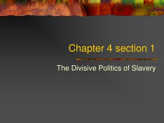 Chapter 4 section 1
