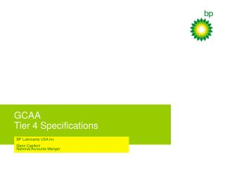 GCAA Tier 4 Specifications