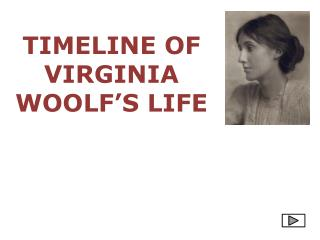 TIMELINE OF VIRGINIA WOOLF'S  LIFE