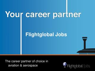 Flightglobal Jobs - relaunch of the jobsite