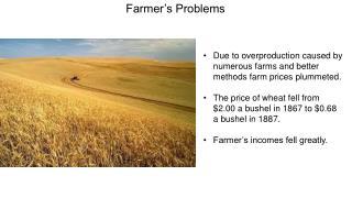 Farmer's Problems