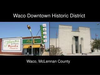 Waco Downtown Historic District