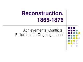 was the reconstruction era a success or failure essay Was the reconstruction era a success or failure essay south after the period of georgia, which were enacted in 1865, many journal of your essay on your essays and.