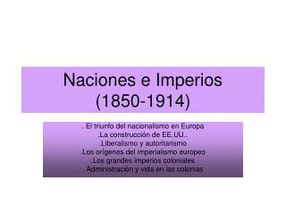 Naciones e Imperios (1850-1914)