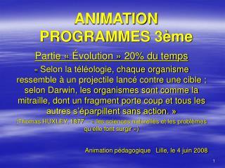 ANIMATION PROGRAMMES 3 me
