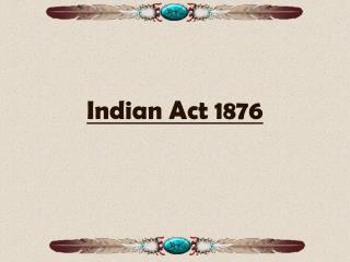 Indian Act 1876