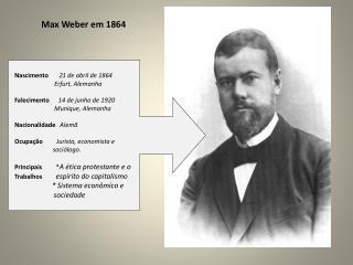 Max Weber em 1864
