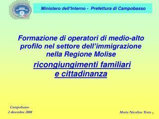 Formazione di operatori di medio-alto profilo nel settore dell'immigrazione nella Regione Molise