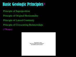 Basic Geologic Principles *