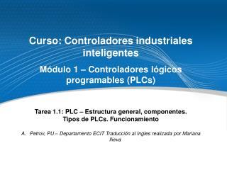 Curso :  Controladores industriales inteligentes