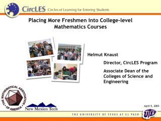 Placing More Freshmen into College-level Mathematics Courses