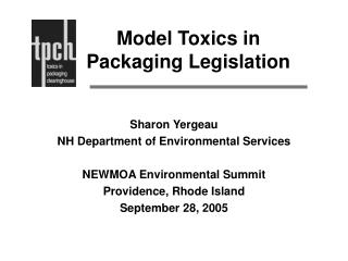 Model Toxics in Packaging Legislation