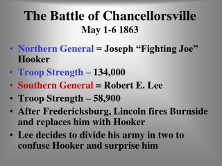 The Battle of Chancellorsville May 1-6 1863