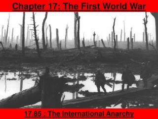 Chapter 17: The First World War
