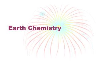 Earth Chemistry
